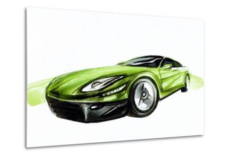 Car. Art Sketch . Sport Car. Pencil Drawing-Anna Ismagilova-Metal Print