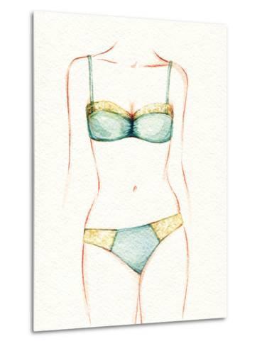 Woman Body. Underwear-Anna Ismagilova-Metal Print