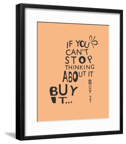 Woman Fashion Shoe from Quotes-Ladoga-Framed Art Print