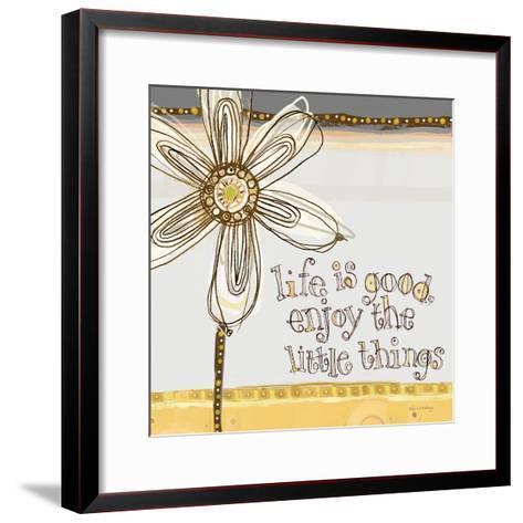 Life Is Good, Enjoy the Little Things-Robbin Rawlings-Framed Art Print