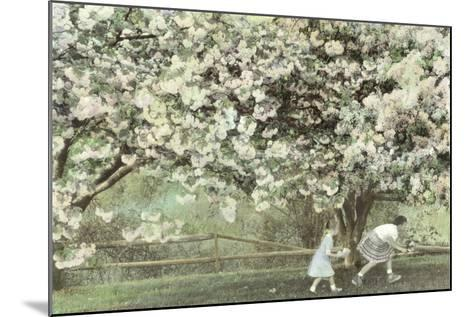 Under the Apple Blossom Tree-Betsy Cameron-Mounted Art Print