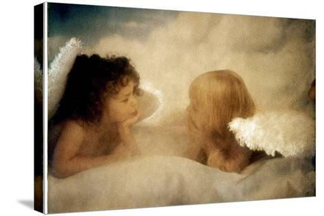 Angels Talking-Betsy Cameron-Stretched Canvas Print