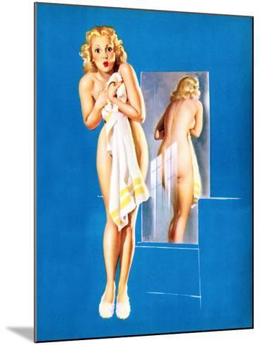 Double Exposure Pin-Up 1940-Gil Elvgren-Mounted Art Print