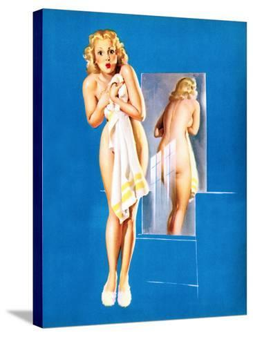 Double Exposure Pin-Up 1940-Gil Elvgren-Stretched Canvas Print