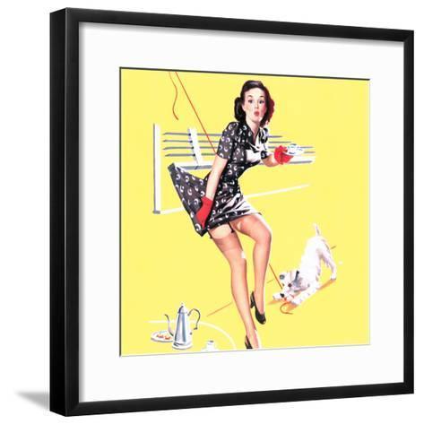 Blind Date Pin-Up 1940s-Gil Elvgren-Framed Art Print