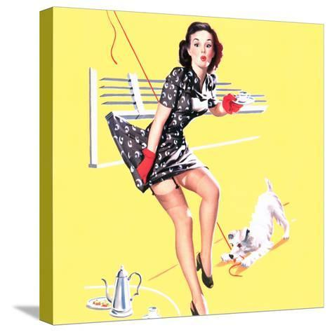 Blind Date Pin-Up 1940s-Gil Elvgren-Stretched Canvas Print