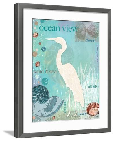 Heron Beach-Bee Sturgis-Framed Art Print