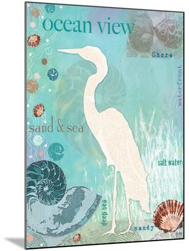 Heron Beach-Bee Sturgis-Mounted Art Print