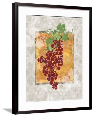 Grapes-Bee Sturgis-Framed Art Print