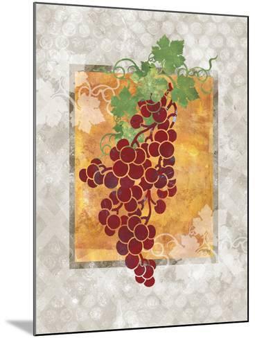 Grapes-Bee Sturgis-Mounted Art Print