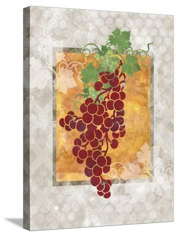 Grapes-Bee Sturgis-Stretched Canvas Print