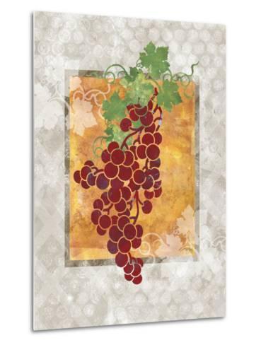 Grapes-Bee Sturgis-Metal Print