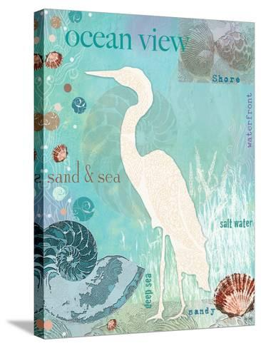 Heron Beach-Bee Sturgis-Stretched Canvas Print