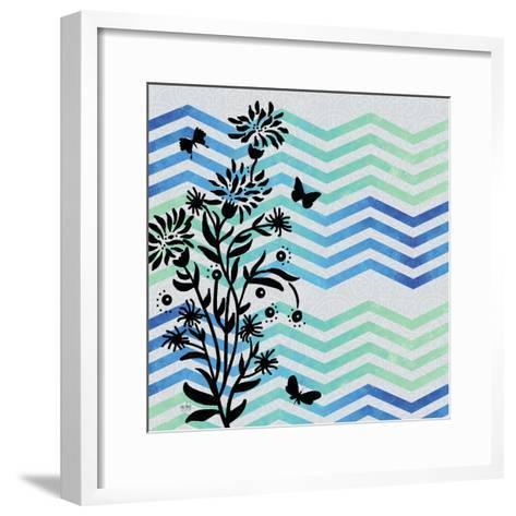 Chevron Floral-Bee Sturgis-Framed Art Print