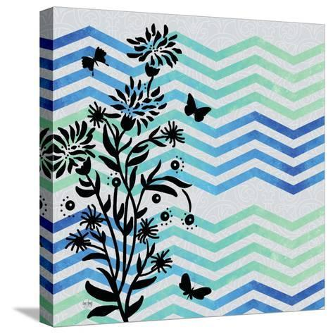 Chevron Floral-Bee Sturgis-Stretched Canvas Print
