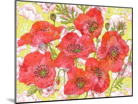 Red Romance Poppies, Group of Blooms and Floral Poppy-Robin Pickens-Mounted Art Print