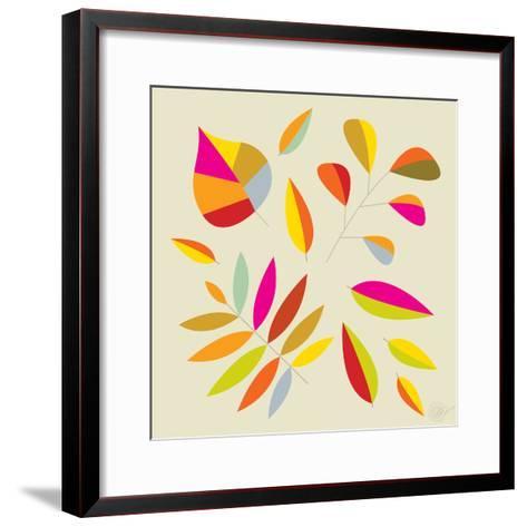 Multi Leaves - 4 Seasons-Dominique Vari-Framed Art Print