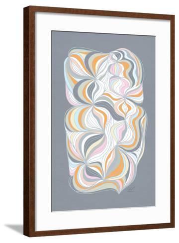Retro Swirl-Dominique Vari-Framed Art Print