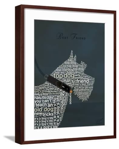 Scottish Terrier Best Friend-Dominique Vari-Framed Art Print