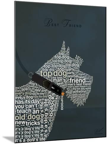 Scottish Terrier Best Friend-Dominique Vari-Mounted Art Print