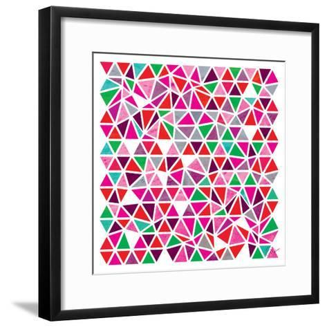 Triangles - Pink and Green-Dominique Vari-Framed Art Print