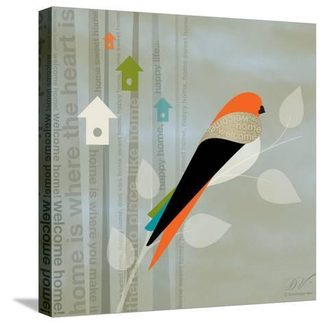 Birds Life - Home Sweet Home-Dominique Vari-Stretched Canvas Print