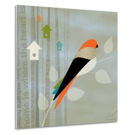 Birds Life - Home Sweet Home-Dominique Vari-Metal Print