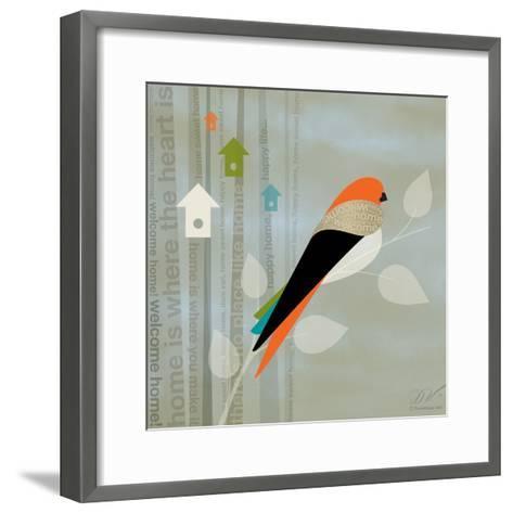 Birds Life - Home Sweet Home-Dominique Vari-Framed Art Print