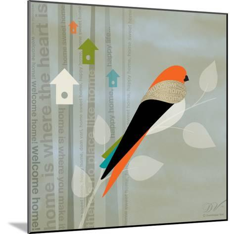 Birds Life - Home Sweet Home-Dominique Vari-Mounted Art Print