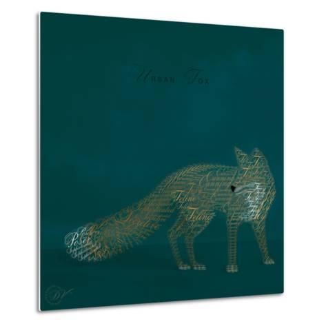 Urban Fox - Blue-Dominique Vari-Metal Print
