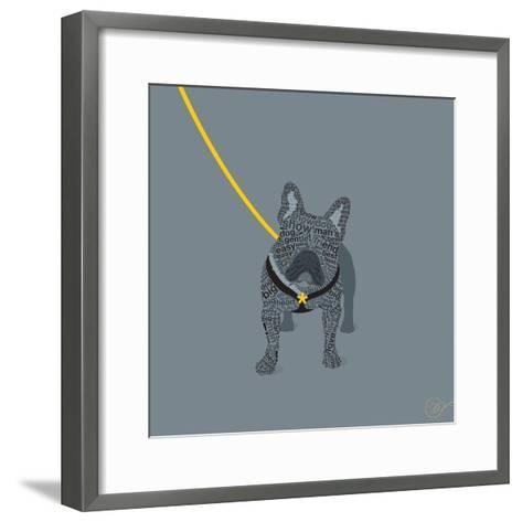 French Bulldog on Grey-Dominique Vari-Framed Art Print