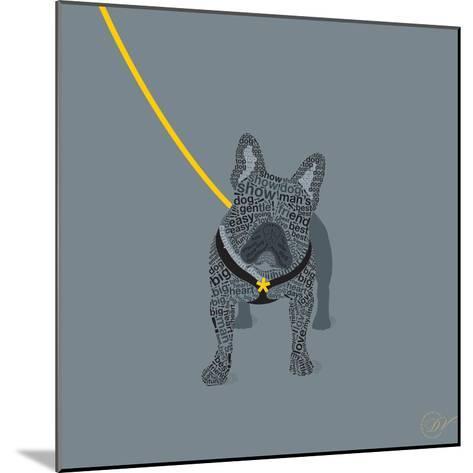 French Bulldog on Grey-Dominique Vari-Mounted Art Print