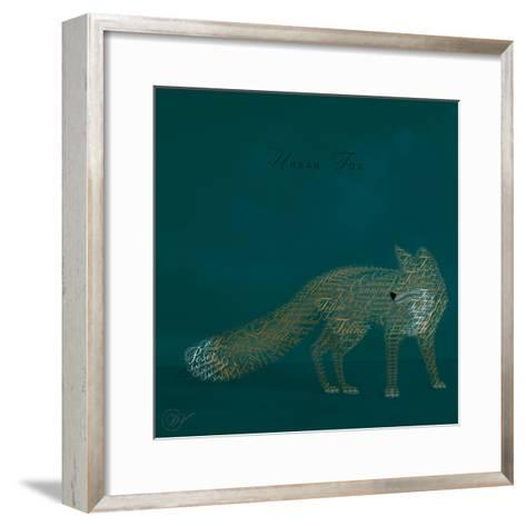 Urban Fox - Blue-Dominique Vari-Framed Art Print