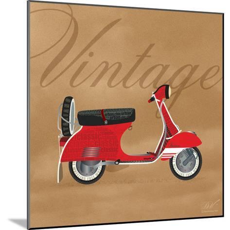 Vintage Vespa Red-Dominique Vari-Mounted Art Print