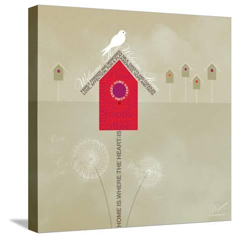 Bird House - Ivory-Dominique Vari-Stretched Canvas Print