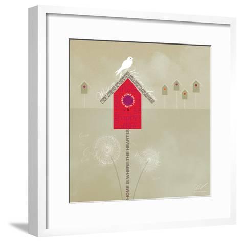 Bird House - Ivory-Dominique Vari-Framed Art Print