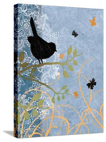 Bird on Branch-Bee Sturgis-Stretched Canvas Print