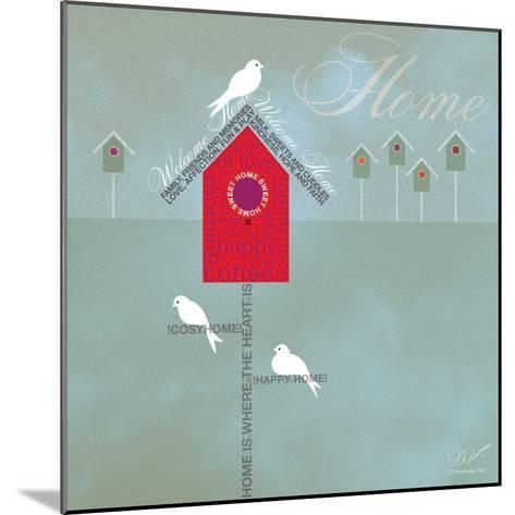 Bird House - Blue Grey-Dominique Vari-Mounted Art Print