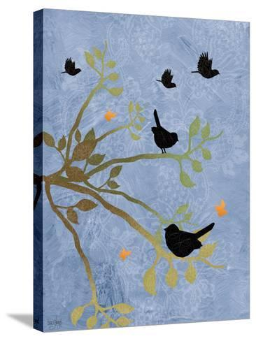 Many Birds on Branches-Bee Sturgis-Stretched Canvas Print
