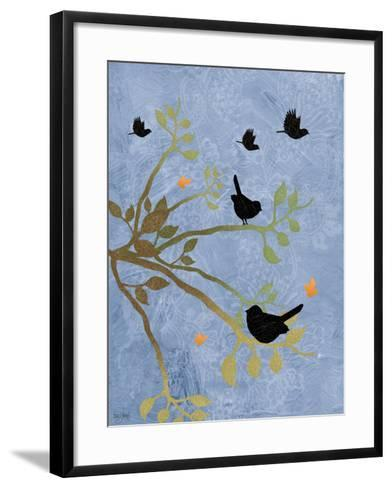 Many Birds on Branches-Bee Sturgis-Framed Art Print