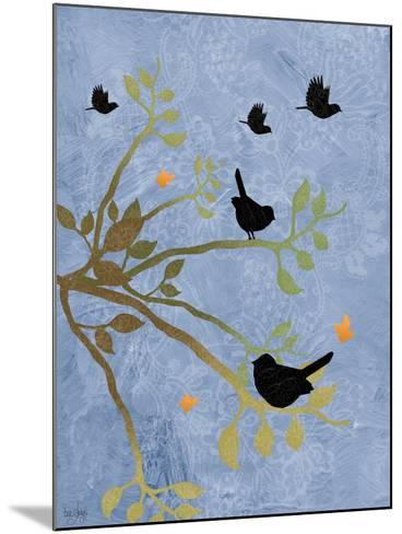 Many Birds on Branches-Bee Sturgis-Mounted Art Print
