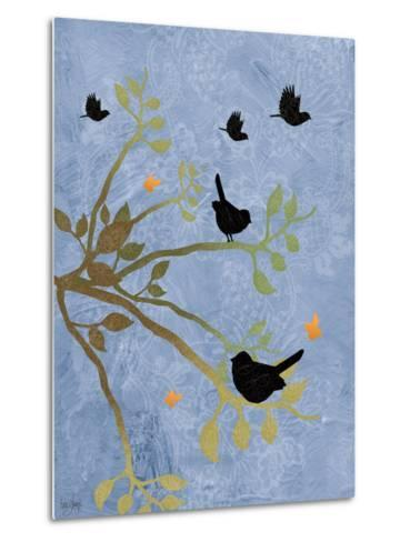 Many Birds on Branches-Bee Sturgis-Metal Print