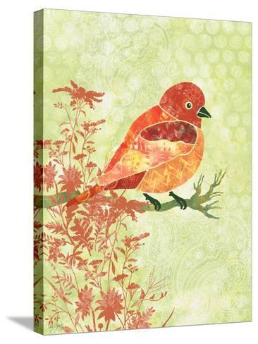 Orange Bird-Bee Sturgis-Stretched Canvas Print