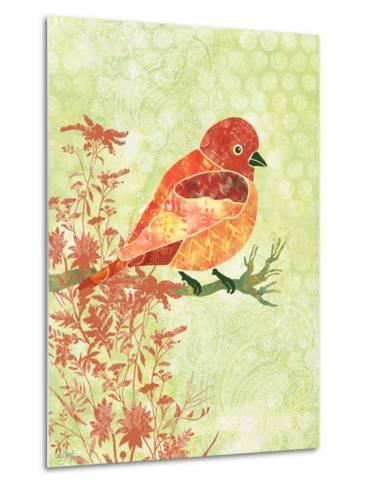 Orange Bird-Bee Sturgis-Metal Print