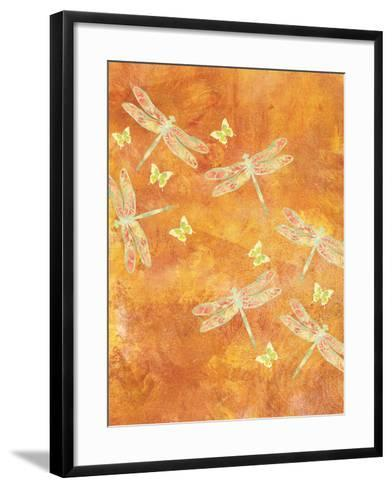 Many Soaring Dragonflies-Bee Sturgis-Framed Art Print