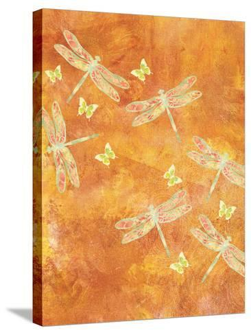 Many Soaring Dragonflies-Bee Sturgis-Stretched Canvas Print