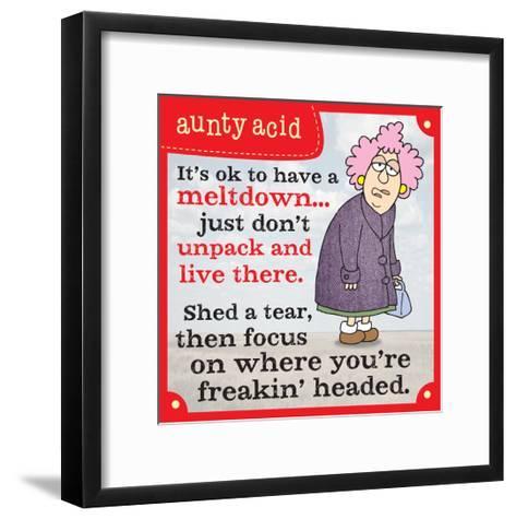 Meltdowns-Aunty Acid-Framed Art Print