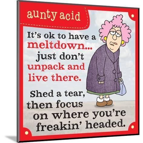 Meltdowns-Aunty Acid-Mounted Art Print