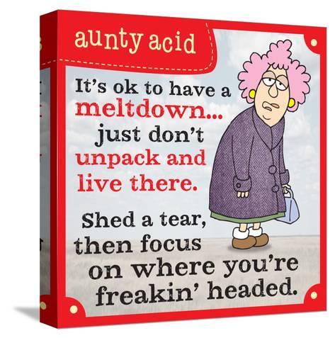 Meltdowns-Aunty Acid-Stretched Canvas Print