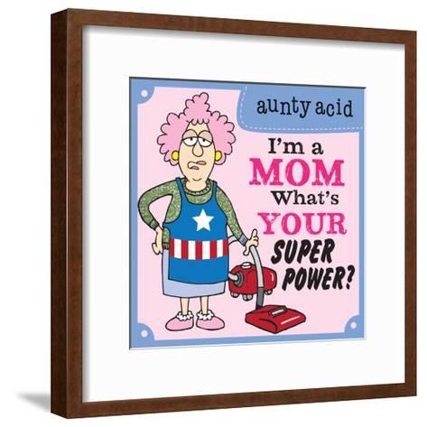 Super Power I-Aunty Acid-Framed Art Print